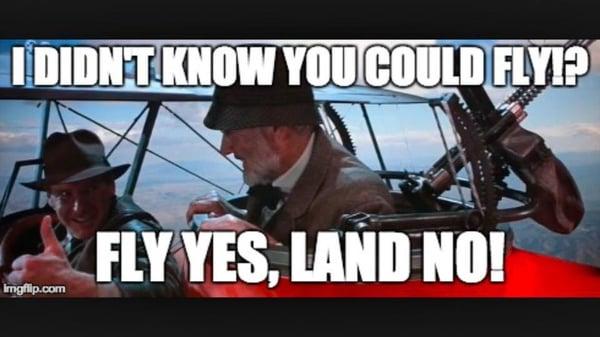 Indiana Jones Flying a Plane