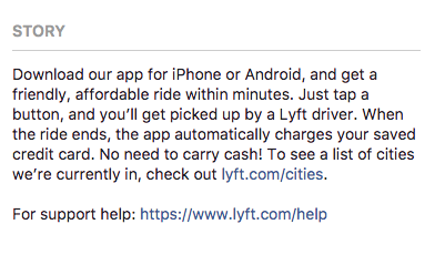 lyft about facebook