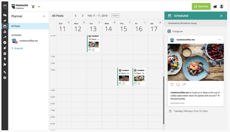 hootsuite scheduler instagram