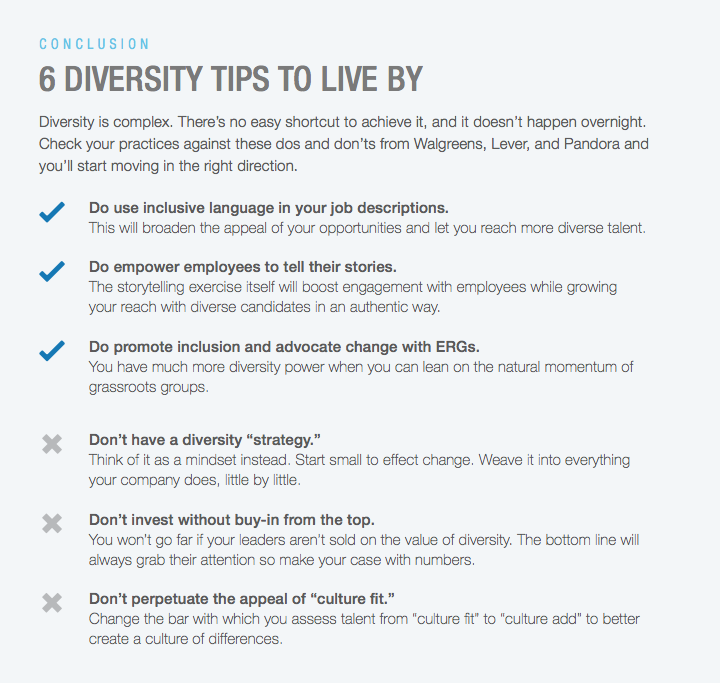 diversity tips