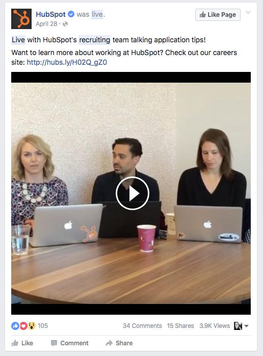 Hubspot Facebook Live