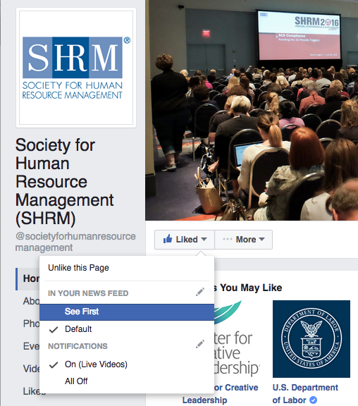 SHRM Facebook