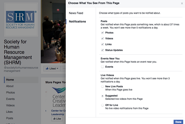 Facebook News Feed Notifications
