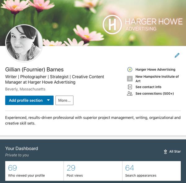 Gillian's LinkedIn 3-11-19